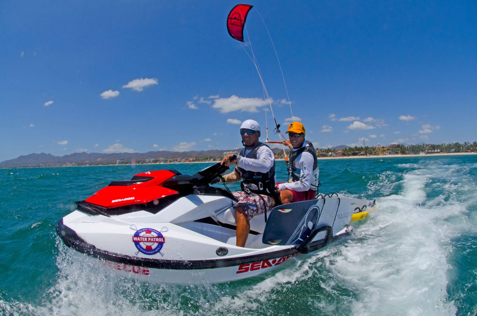 Kite-boarding-jet-ski-assisted-surf-mexico-kite-school-zero-to-hero