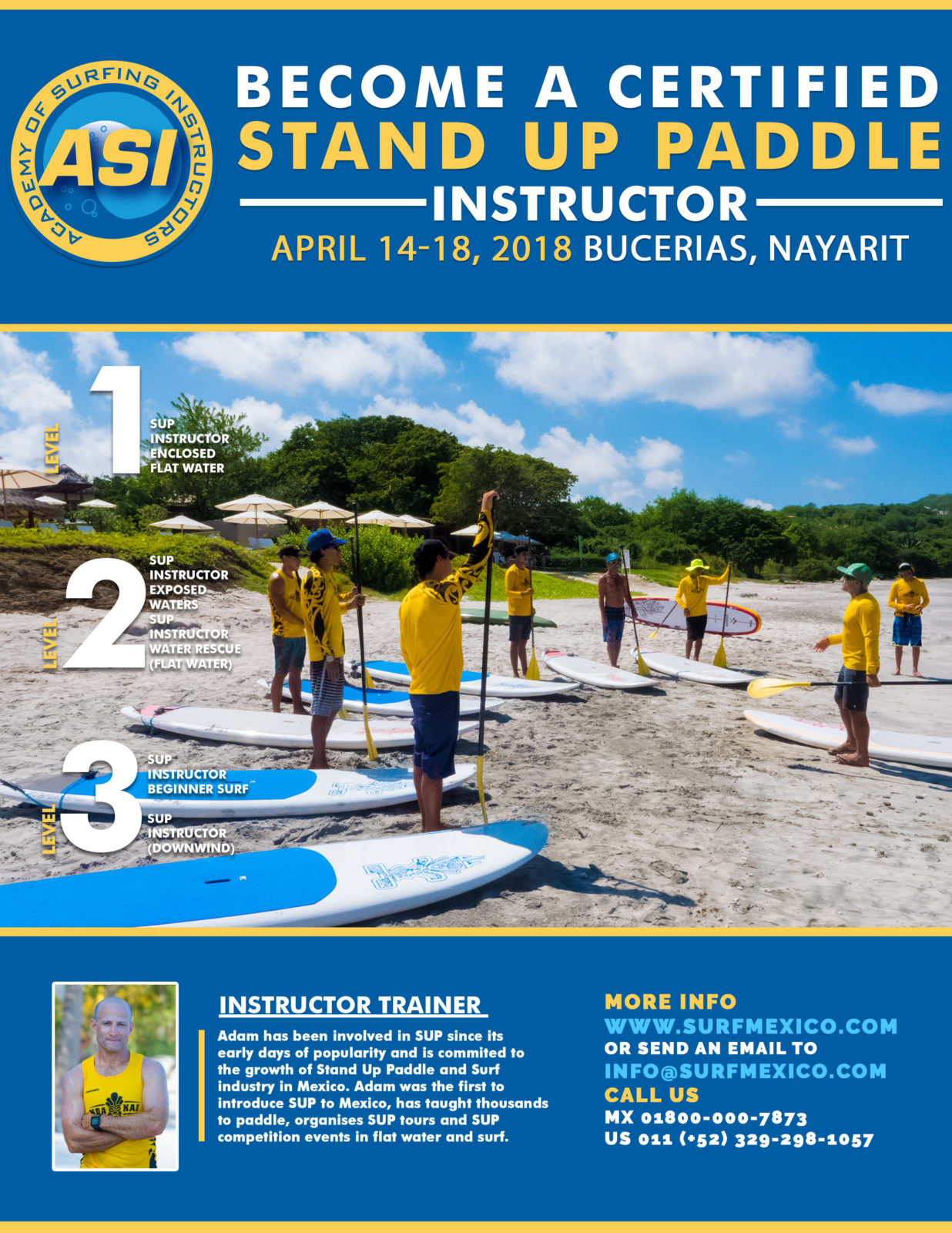 ASI Instructor Training in Surf Mexico April 2018